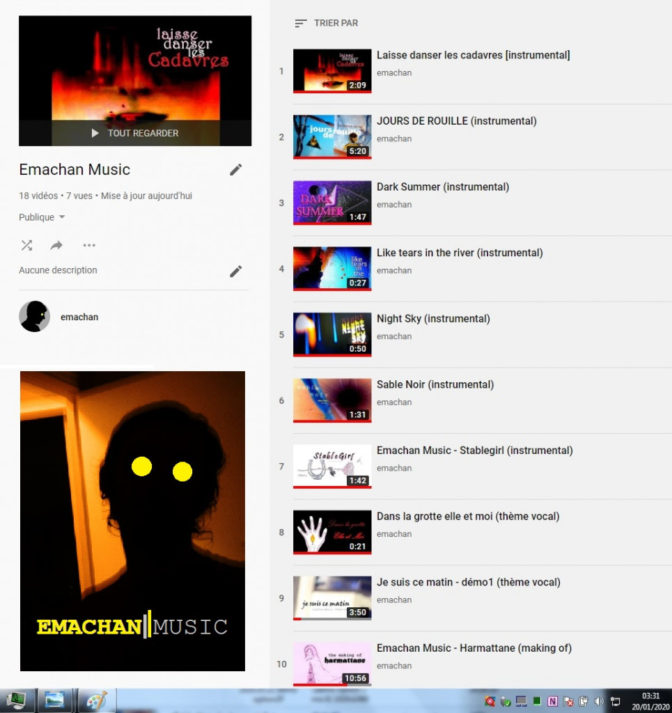 2020.01.20 emachan youtube playlist 7 Emachan Music
