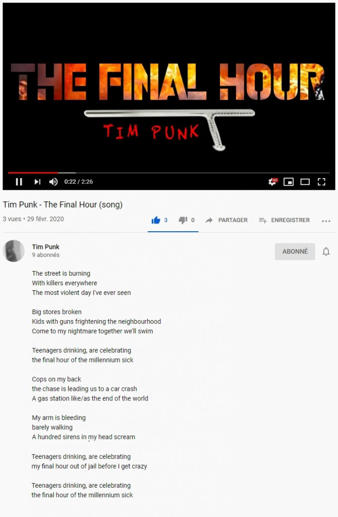 Tim Punk - The-Final-Hour lyrics