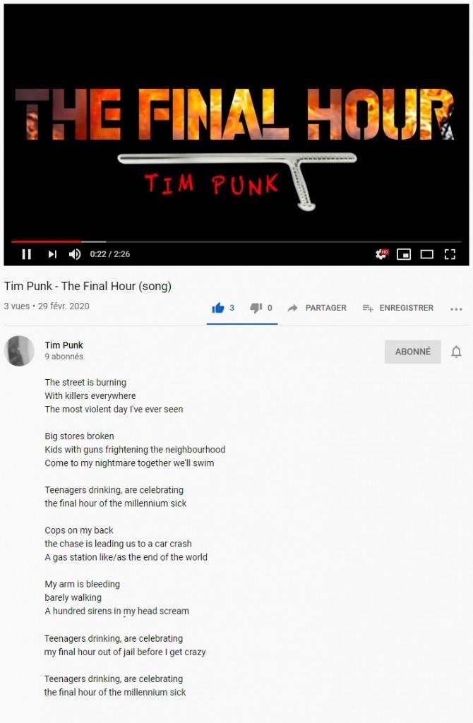 Tim Punk - The-Final-Hour lyrics